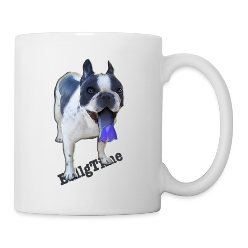 Bulldog francés. BullgTime. Dog Azul Turquis - Taza