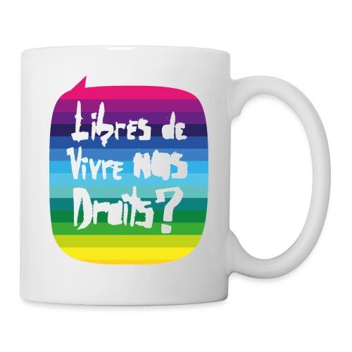 Logo Libres Fiertés 2016 - Mug blanc