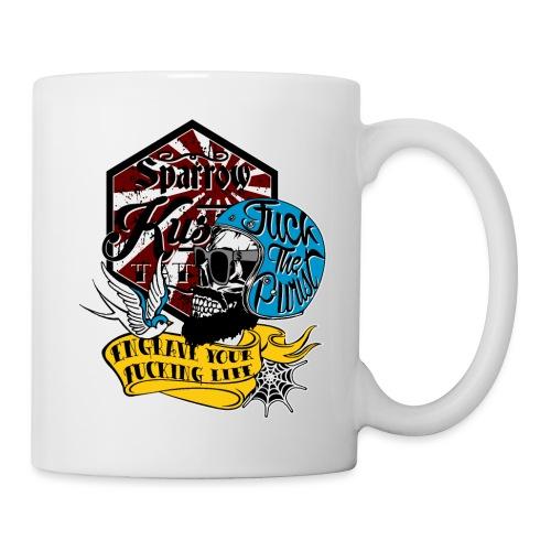 Fuck-the-purist-LOGO-ok - Mug blanc
