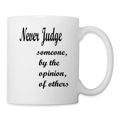 Never Judge - Mug