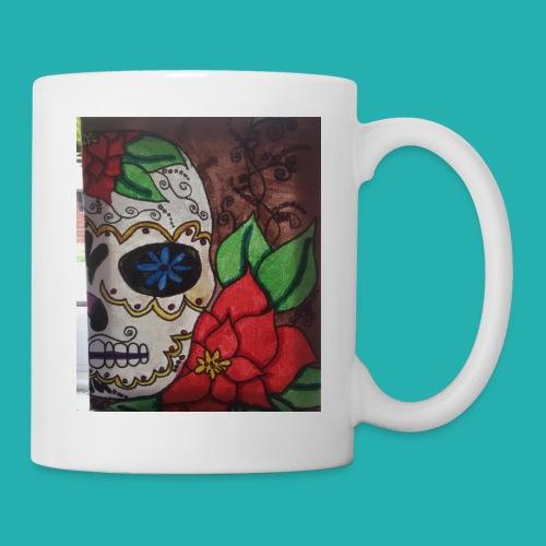flower-skull - Mug