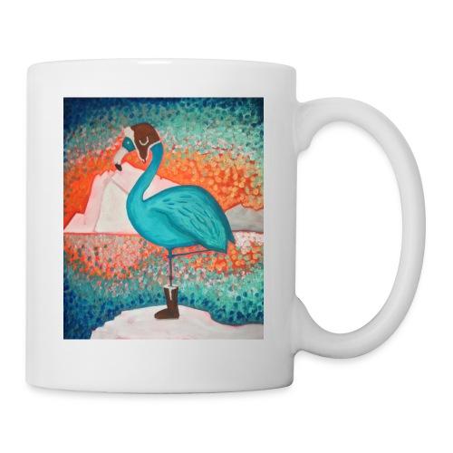 Le Flamant bleu - Mug blanc
