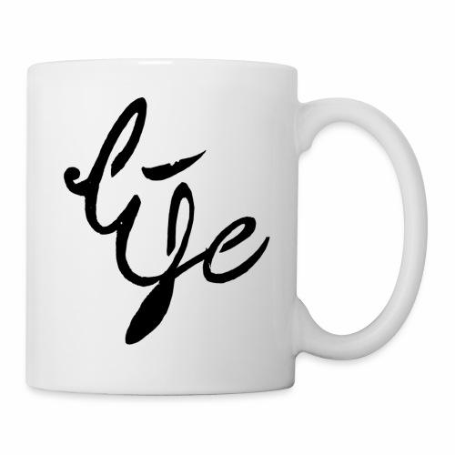 Life Logo simple black - Mug blanc