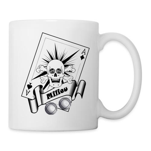 t shirt petanque milieu crane rieur as pointe tir - Mug blanc