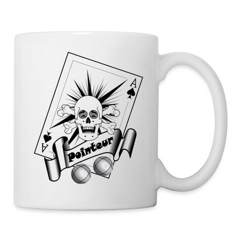 t shirt petanque pointeur crane rieur boules - Mug blanc