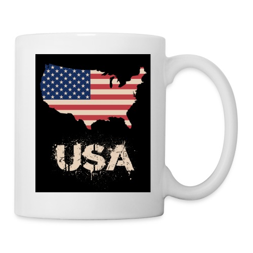 USA FLAG 4th of July With Flag - Mugg