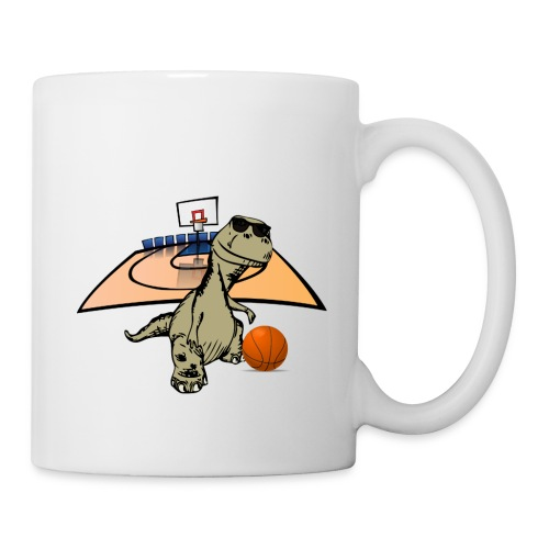 Dino Rex Playing Basketball T-Shirt - Mug
