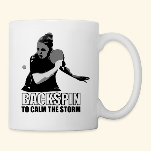 Backspin to calm the storm, play table tennis - Tasse