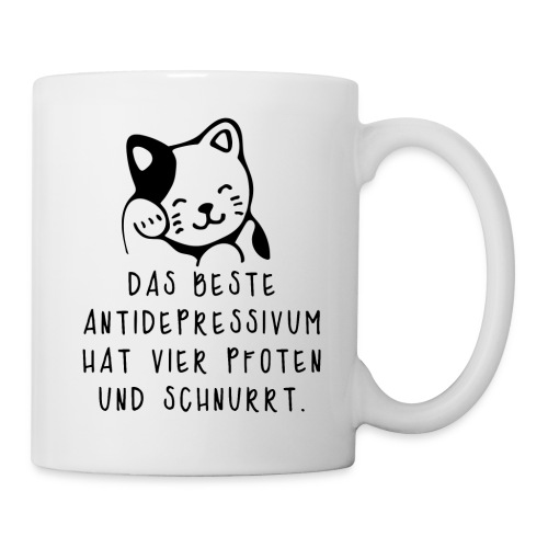 Katzen sind das beste Antidepressivum - Tasse