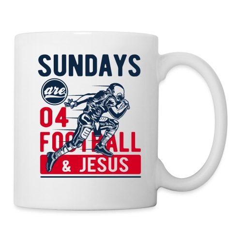 Sany O. Sundays Are For Football And Jesus - Tasse