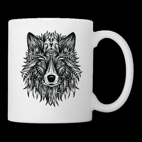 Mandala wolf - Mug