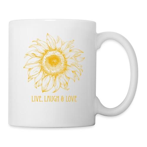Sonnenblume Zeichnung - Tasse