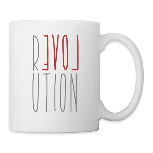 Love Peace Revolution - Liebe Frieden Statement - Tasse