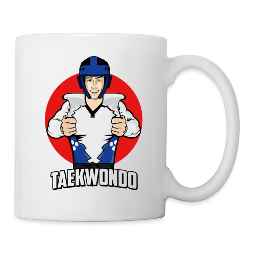 Nouveau Design Taekwondo Dessin Animé Cartoon - Mug blanc