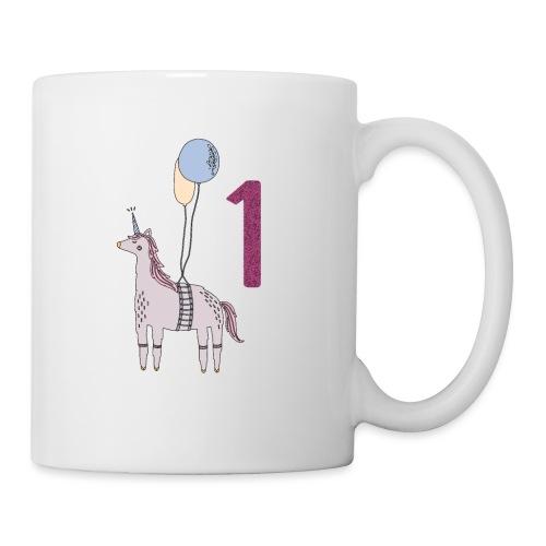 1 Jahr Einhorn / Geschenkidee zum 1. Geburtstag - Tasse