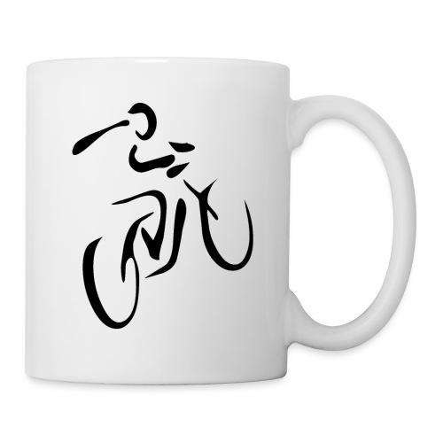 Fahrrad Symbol D schwarz - Tasse