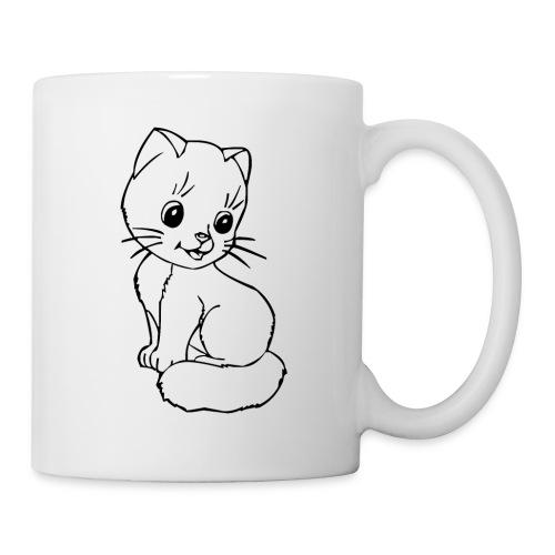 Katzen Symbol Katze süß Kützchen Haustier - Tasse