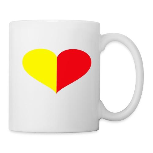 cuore giallorosso pieno - Tazza