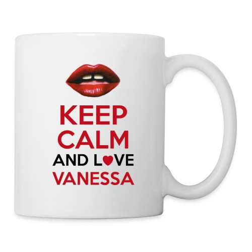 Keep calm and love Vanessa - Mug blanc