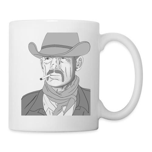Retrato de vaquero con sombrero - Taza