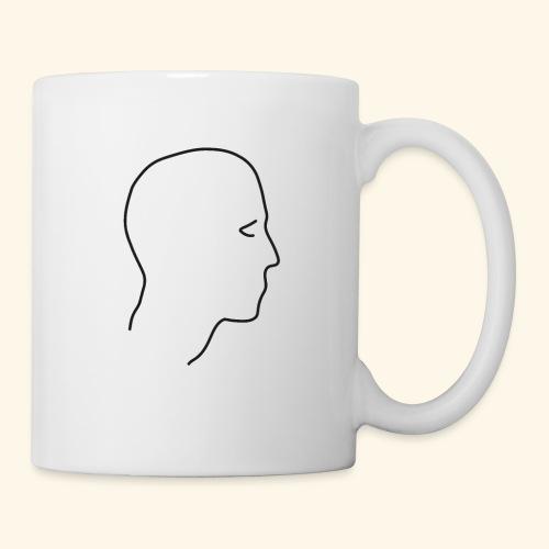 Lineart Kopf Gesicht im Profil Umrisslinie Kunst - Tasse