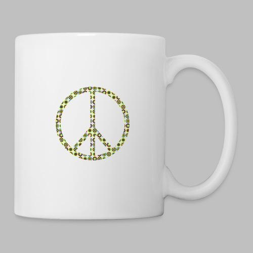 Peace Peacezeichen Frieden 70er Jahre Flowerpower - Tasse