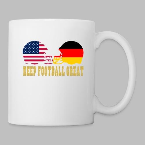 Keep Football Great Football helme USA Deutschland - Tasse