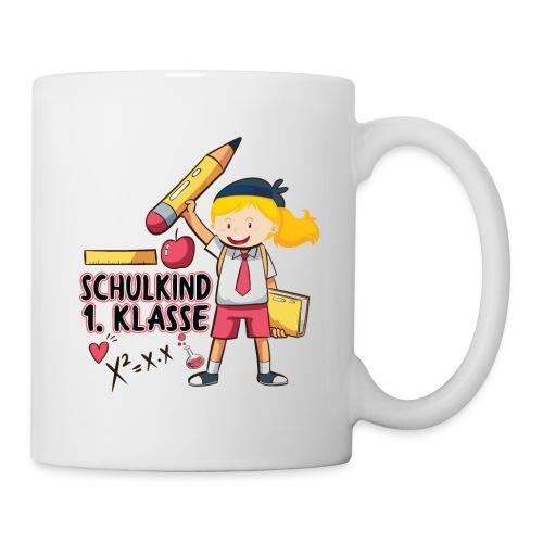 Schulkind 1.Klasse Mädchen Design - Tasse