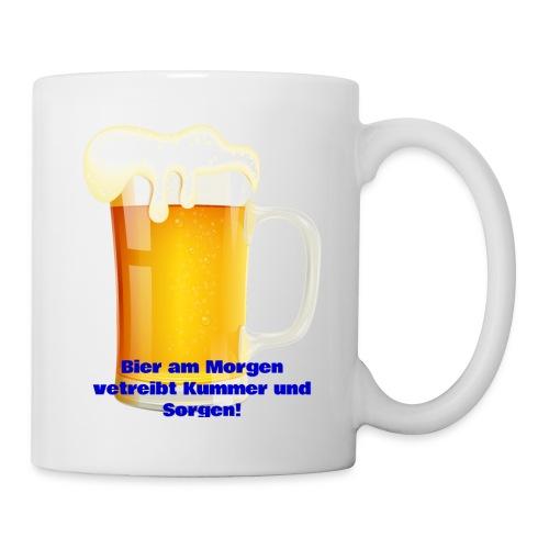 Bier am Morgen vetreibt Kummer und Sorgen Produkte - Tasse