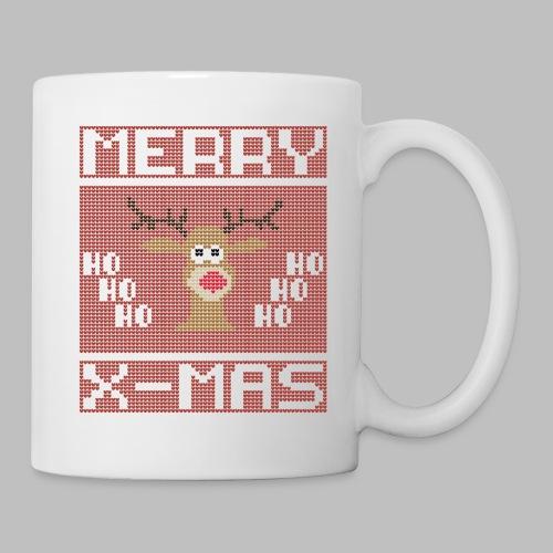 Merry X-Mas Ugly Sweater Design Geschenk - Tasse
