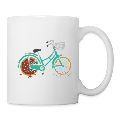 TURQUOISE / GREEN RETRO BICYCLE WITH DONUT WHEELS - Tasse