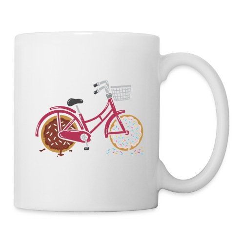 RED RETRO BICYCLE WITH DONUT WHEELS - Tasse