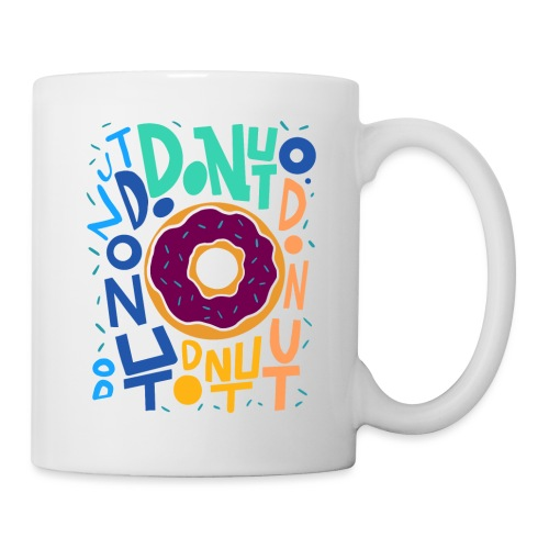 LETTERING DONUT ALL OVER THE PLACE - Tasse