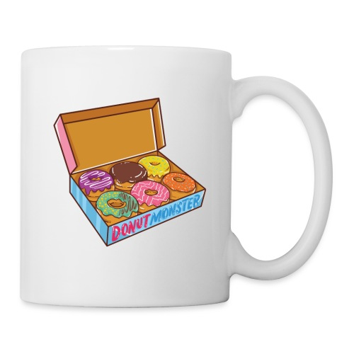 A DONUT BOX STUFFED WITH 6 DELICIOUS DONUTS - Tasse