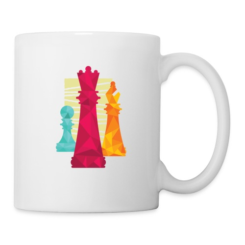 Schach Figuren Bauer König Läufer - Tasse