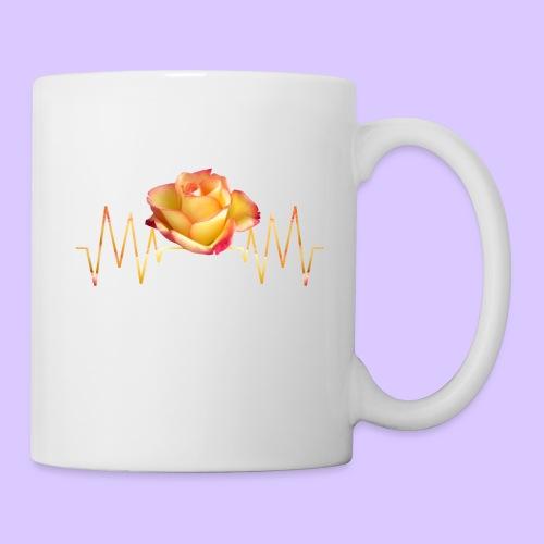 Rose, Herzschlag, Rosen, Blume, Herz, Frequenz - Tasse