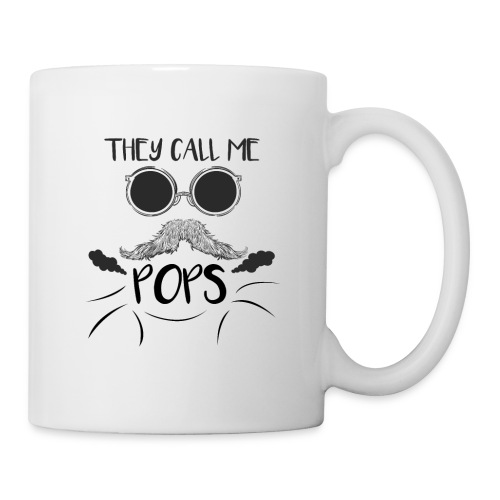 they call me pops t-shirt pour homme - Mug blanc