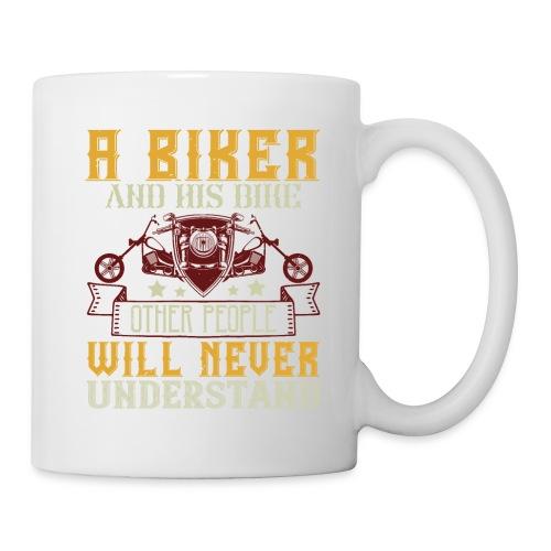 A biker and his bike. - Mug