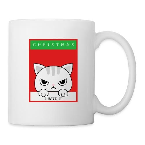 Ik haat kerstmis boze kat - Mok