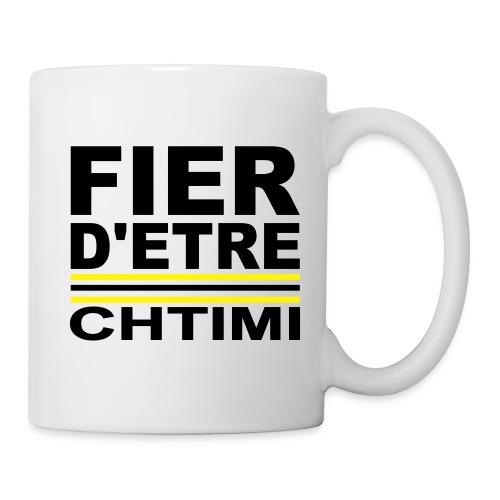 Fier D ETRE Chtimi Noir - Mug blanc