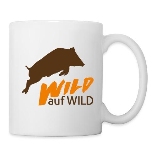 Logo Wild auf Wild Orange und Edelbraun - Tasse