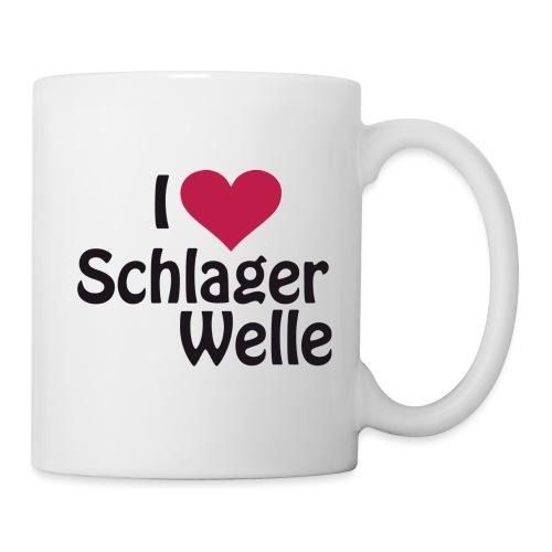 I love Schlagerwelle - Logo in Schwarz - Tasse