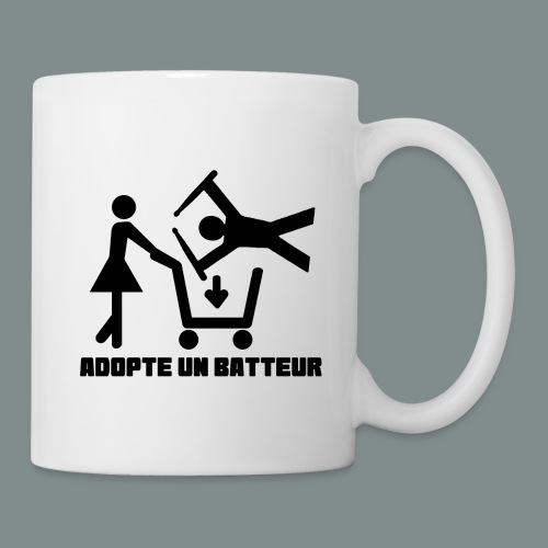 Adopte un batteur - idee cadeau batterie - Mug blanc