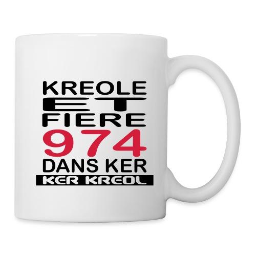 Kreole et Fiere - 974 ker kreol - Mug blanc