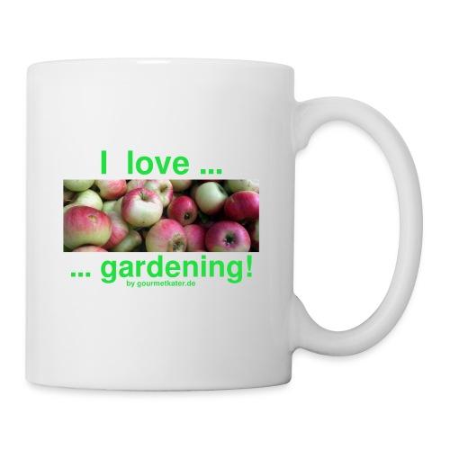 Äpfel - I love gardening! - Tasse