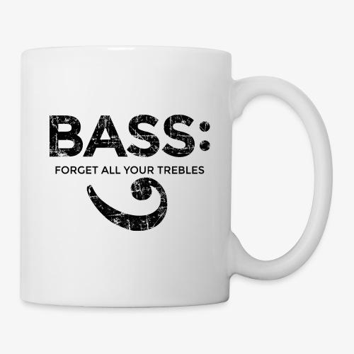 BASS - Forget all your trebles (Vintage/Schwarz) - Tasse