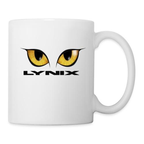 lynix new eyes text smaller png - Mug