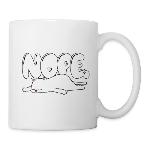 Tasse Nope Katze Comic Lustiger Spruch weiss - Tasse