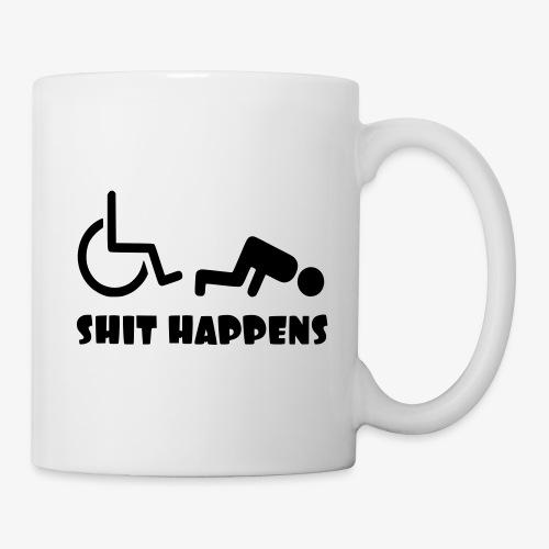 Het zit soms ook tegen in je rolstoel - Mok