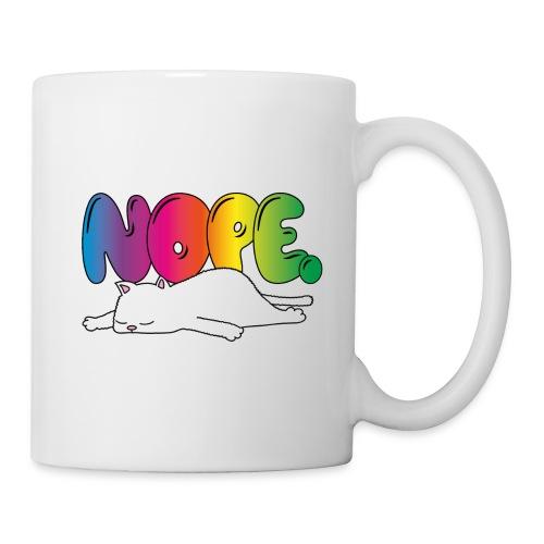 Tasse Nope Katze Lustiger Spruch Regenbogen - Tasse
